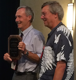 Alan Smith receiving the Asa Gray Award