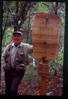 At Toquima Wilderness boundary sign.