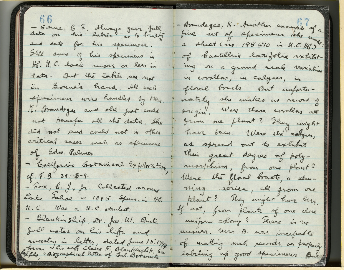 Jepson Field Book 70_67