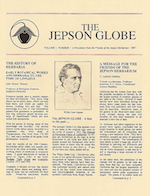 Cover of the first issue of the Jepson Globe, featuring a portrait of W. L. Jepson